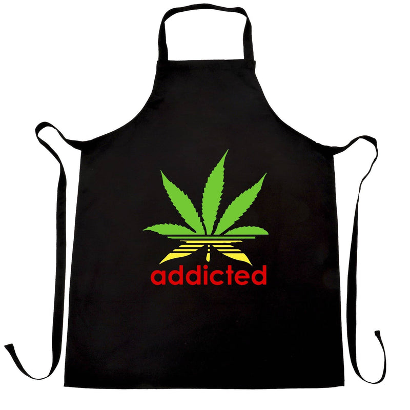Addicted Marajuana Cannabis Weed Leaf Rasta Colours Legalize It Smoke Pot Adict Law Breaker Apron