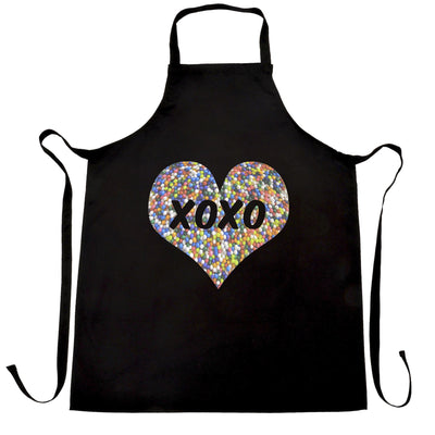 Sweetheart Chef's Apron XOXO Love And Kisses Logo