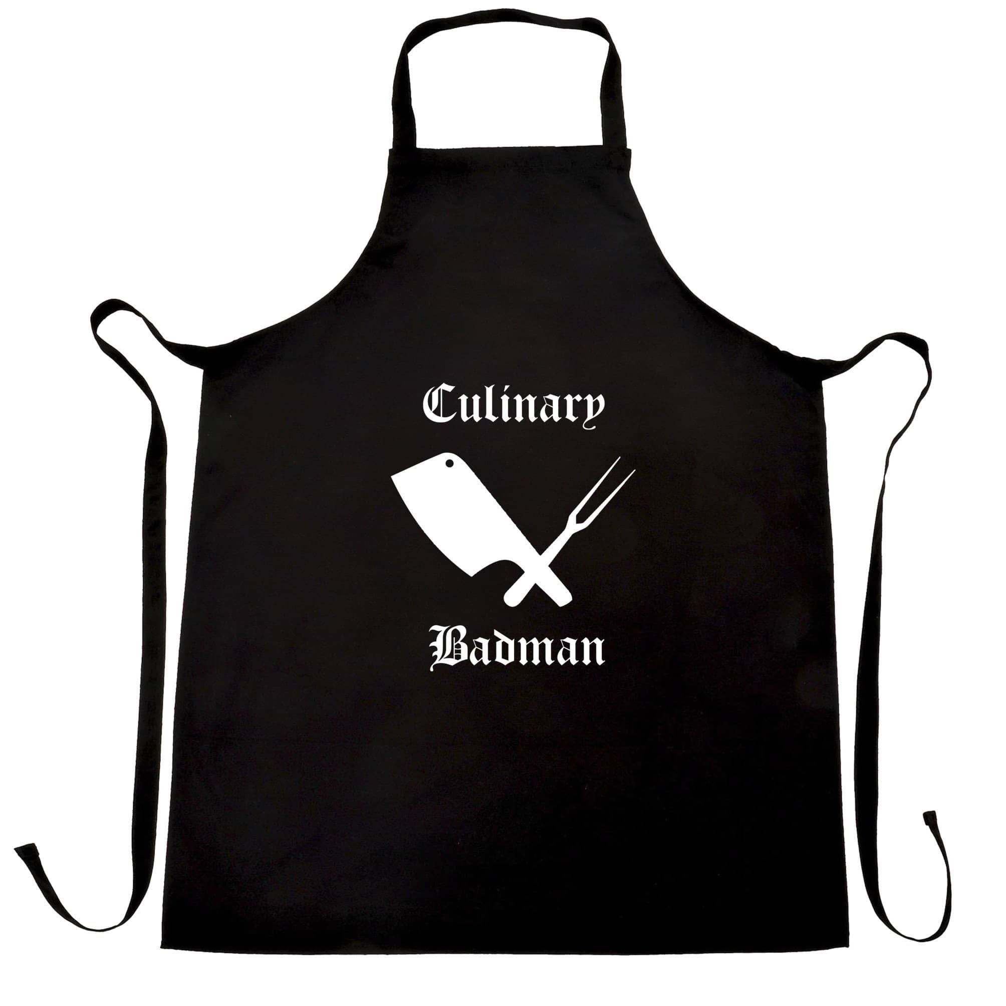 Cooking Chef's Apron Culinary Badman Cuisine Logo