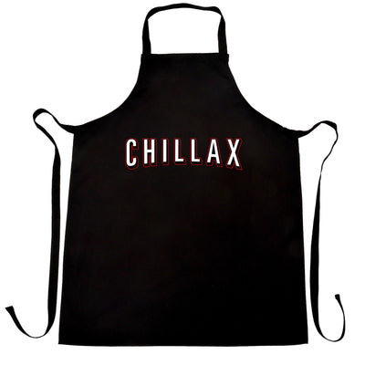 TV And Chill Chef's Apron Chillax Stylised Text Slogan