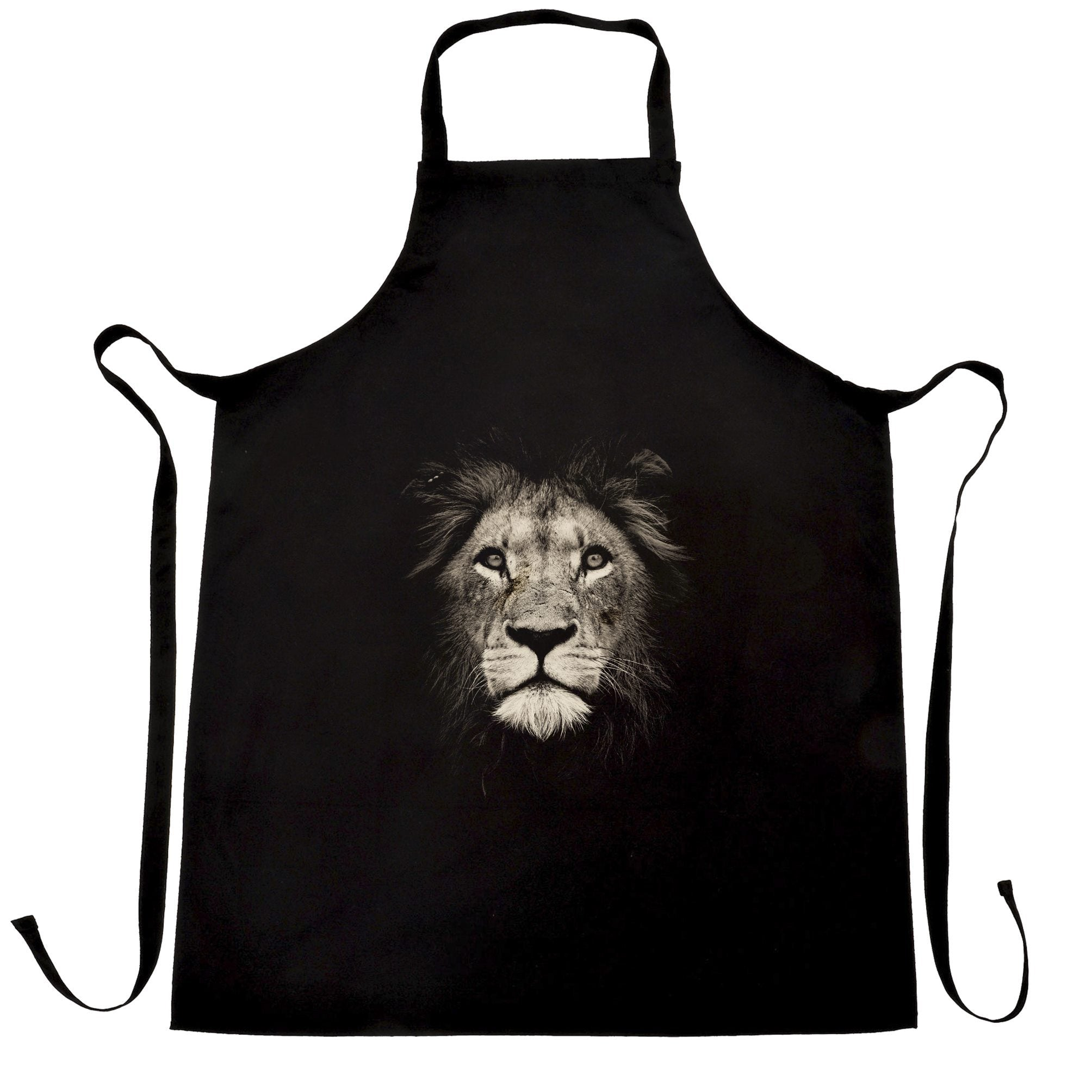 Stylish Animal Chefs Apron Photographic Lion Face Design