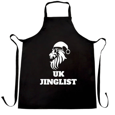 Christmas Parody Chef's Apron UK Jinglist Lion