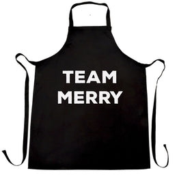 Novelty Xmas Chefs Apron Team Merry Christmas