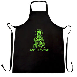 St Patrick's Day Chefs Apron Let Us Drink Saint Paddy
