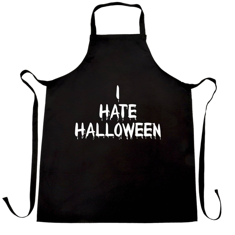 Anti-Holiday Chefs Apron I Hate Halloween Slogan