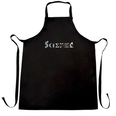 The Word Science Chef's Apron Made From Scientific Things