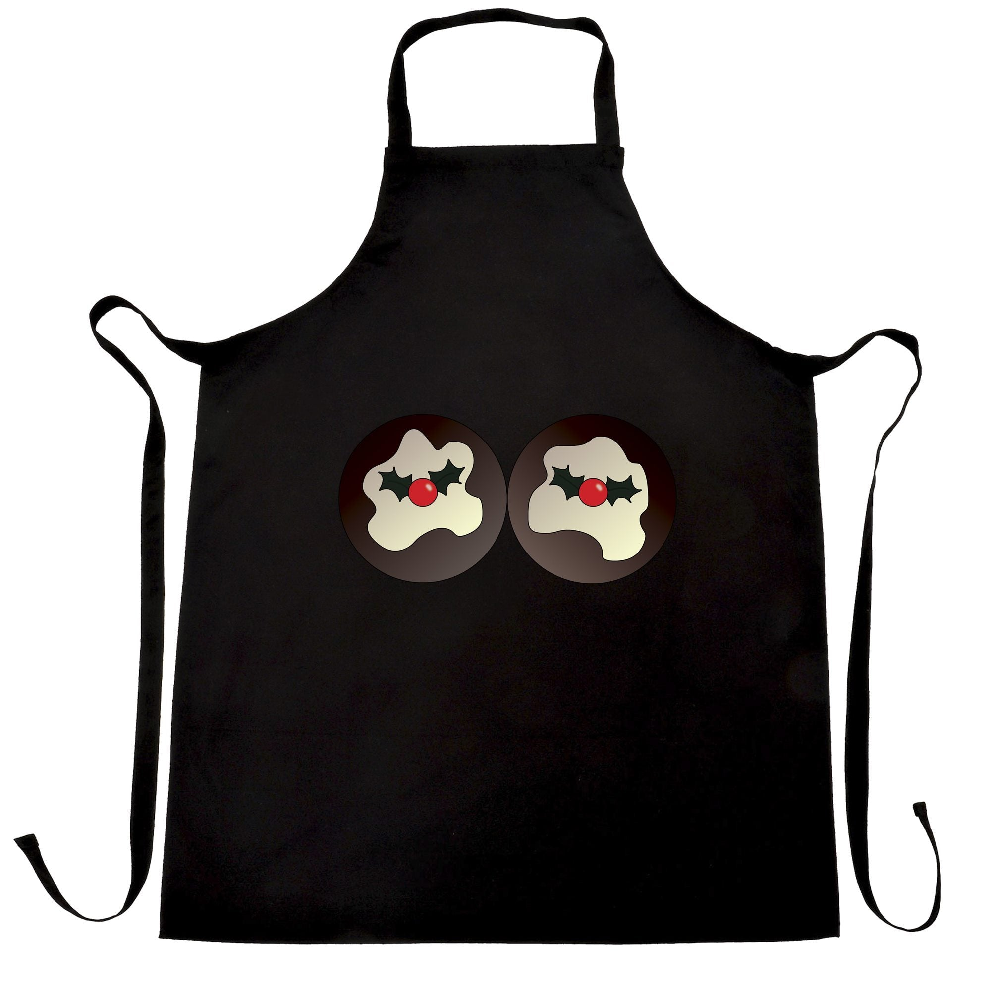 Rude Xmas Chef's Apron Christmas Pudding Breasts