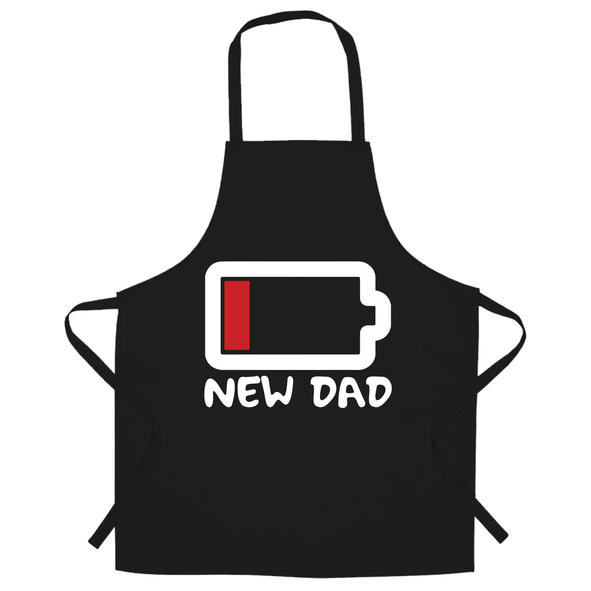 New Dad Chef's Apron Low Battery Remaining Novelty Joke