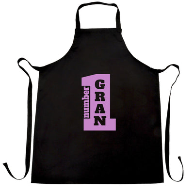 Number 1 Super Gran Grandma Nan Grandmother's Day Grandchildren Apron