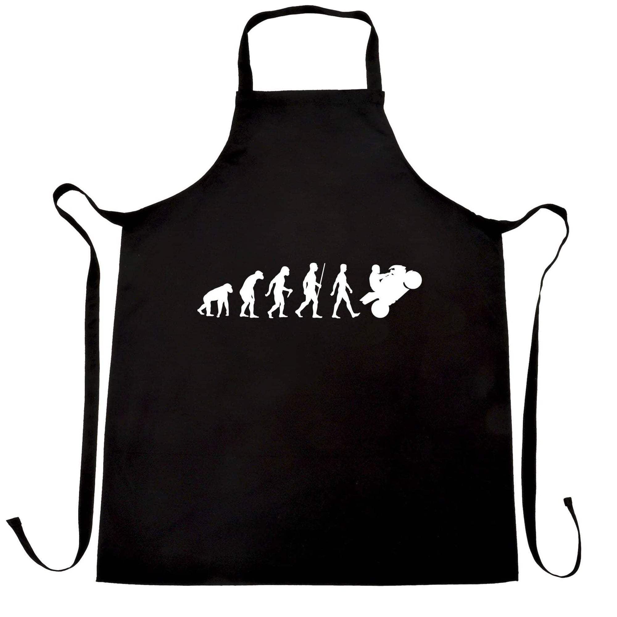 Biker Chef's Apron Evolution of a Motorbike Rider