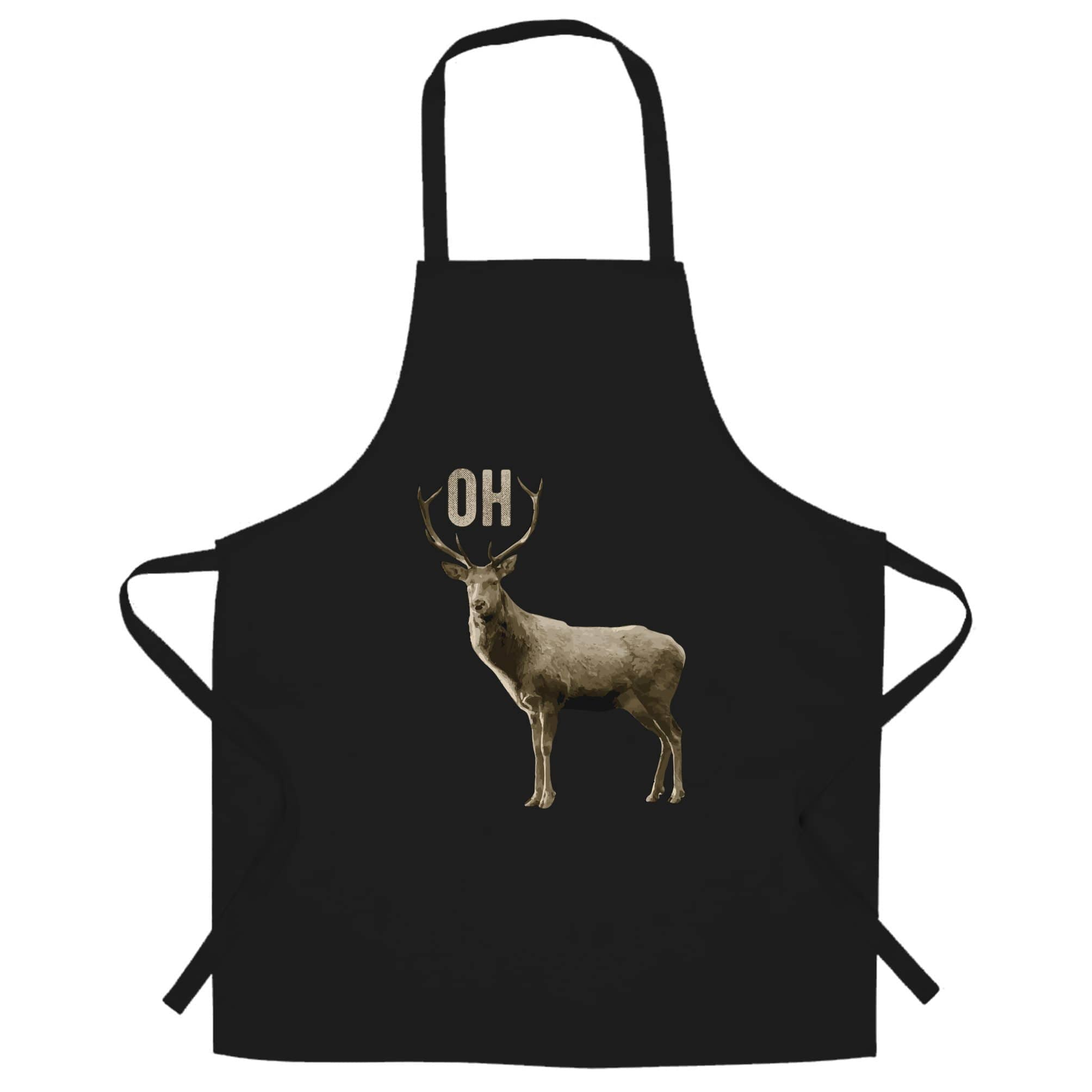 Buck Doe Chef's Apron Funny Oh Deer Pun Slogan