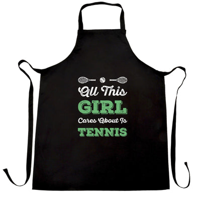 Sports Chef's Apron All This Girl Cares About Is Tennis