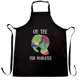 Funny Pun Chefs Apron Oh The Hue-Manatee Humanity