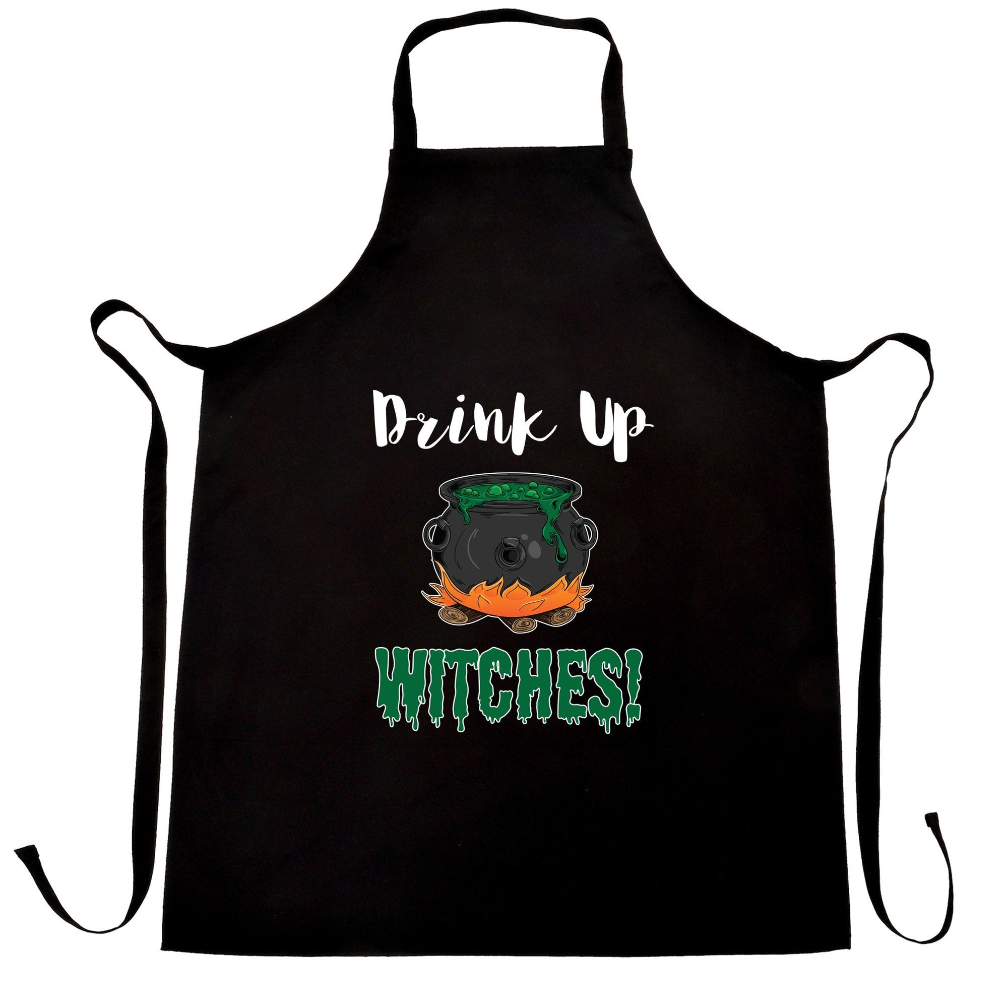 Halloween Chefs Apron Drink Up, Witches Cauldron