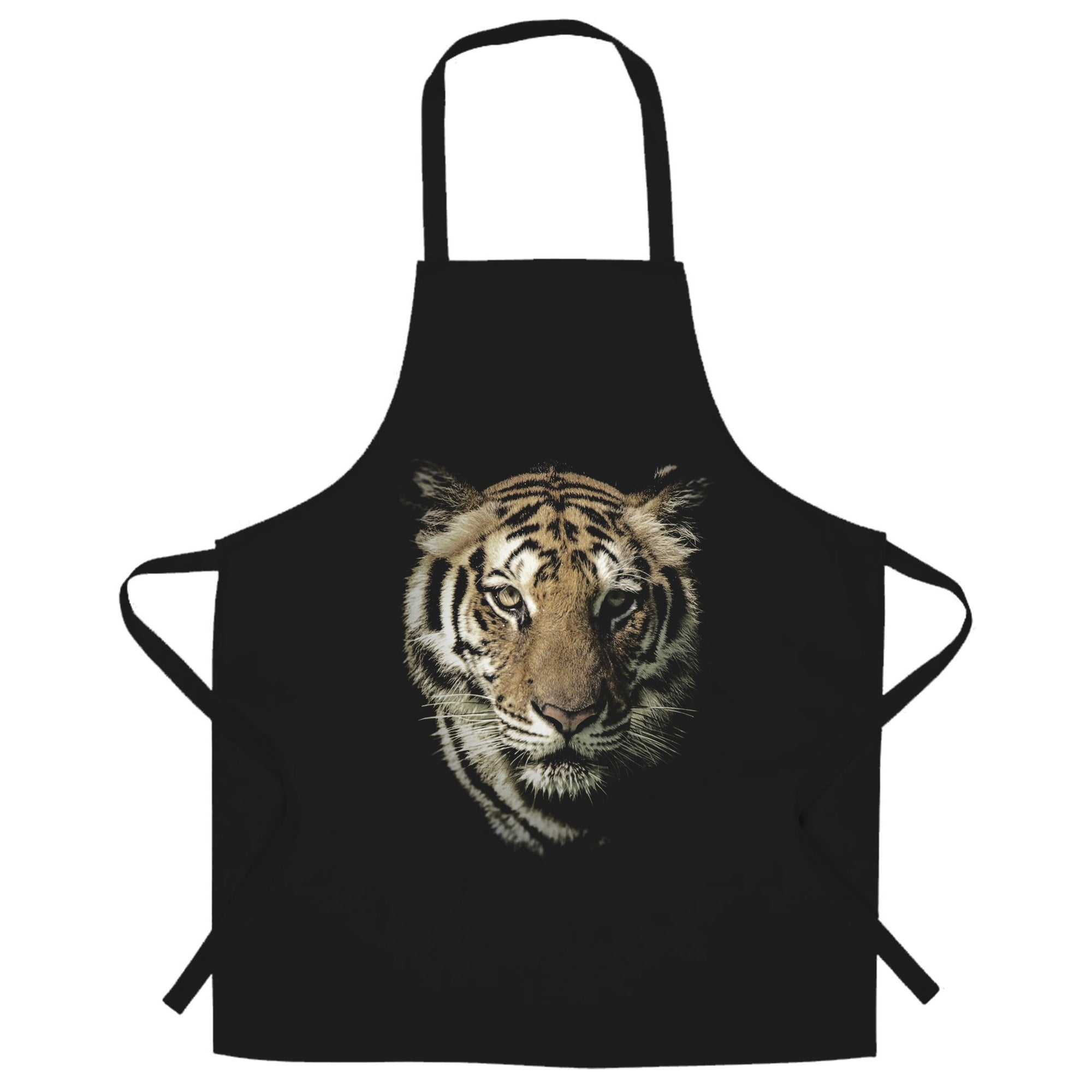 Tiger Face Chef's Apron Majestic Big Cat Head