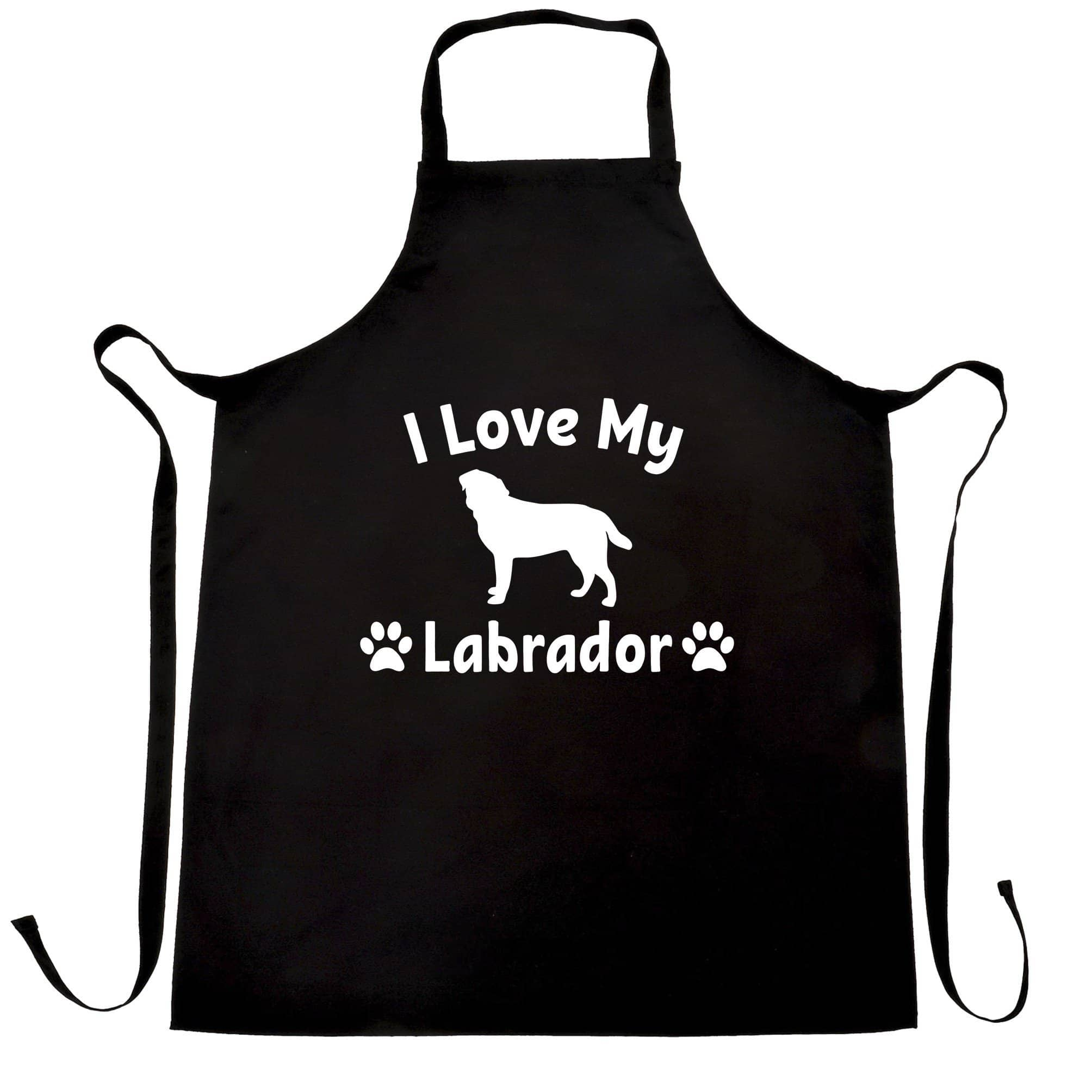 Dog Owner Chef's Apron I Love My Labrador Slogan