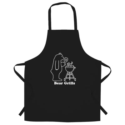 Novelty Barbecue Chef's Apron Grilling Bear Grills Joke