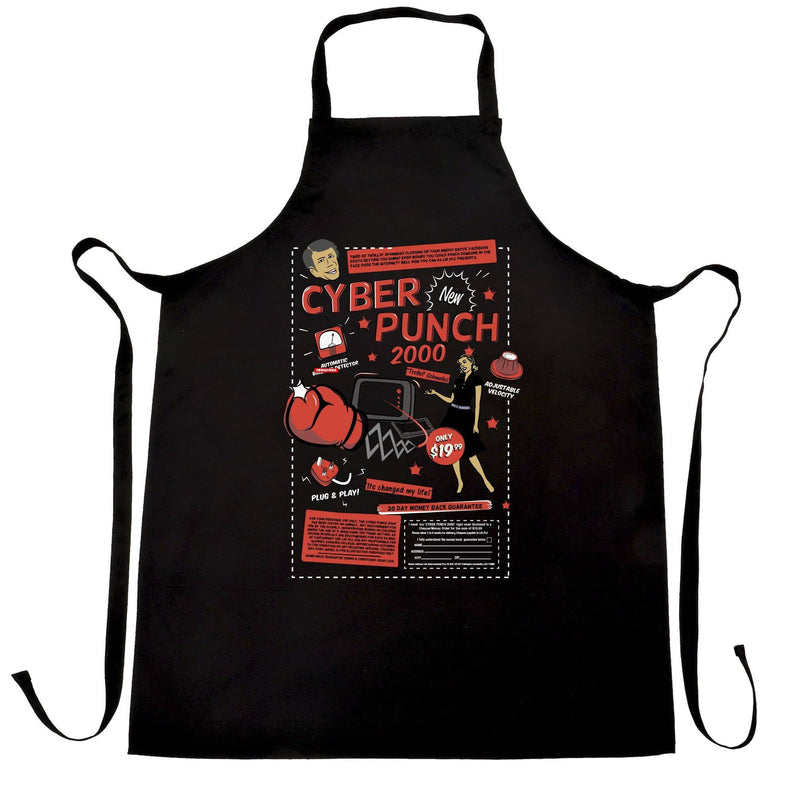 Cyber Punch 2000 Punch Face Over Internet Meme Funny Geek Apron
