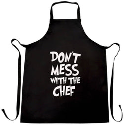 Funny Barbecue Chefs Apron Don't Mess With The Chef Slogan