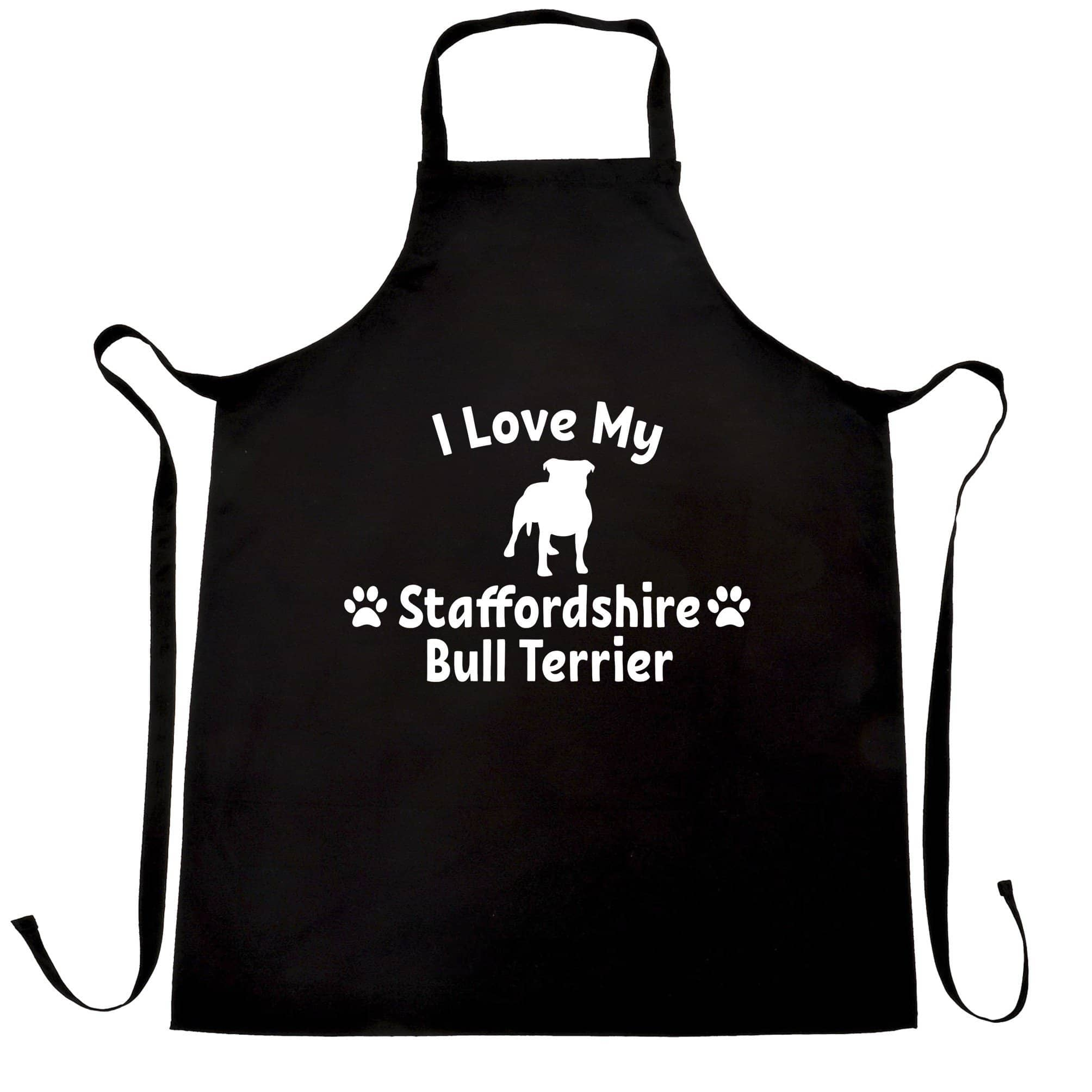 Dog Owner Chef's Apron I Love My Staffordshire Bull Terrier