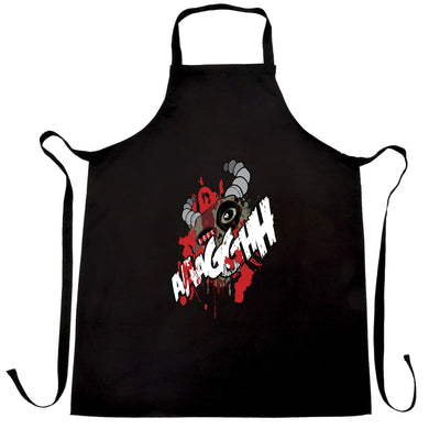 Cartoon Monster Chef's Apron Scary Ogre Face