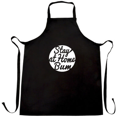 Novelty Chefs Apron Stay At Home Bum Logo Slogan