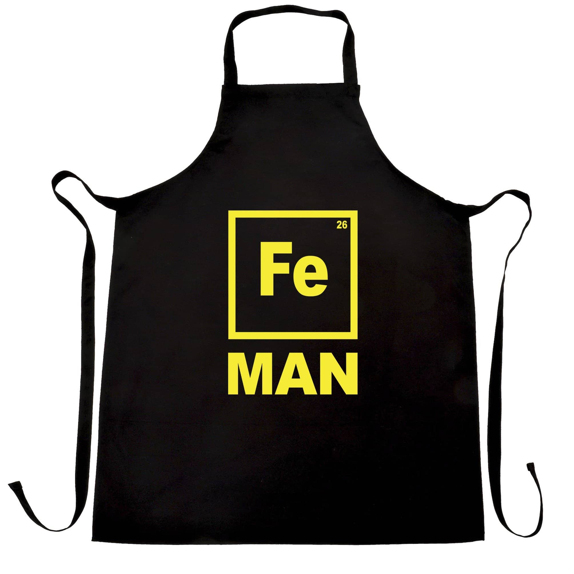 Novelty Nerdy Chef's Apron Fe Man Iron Chemical Symbol
