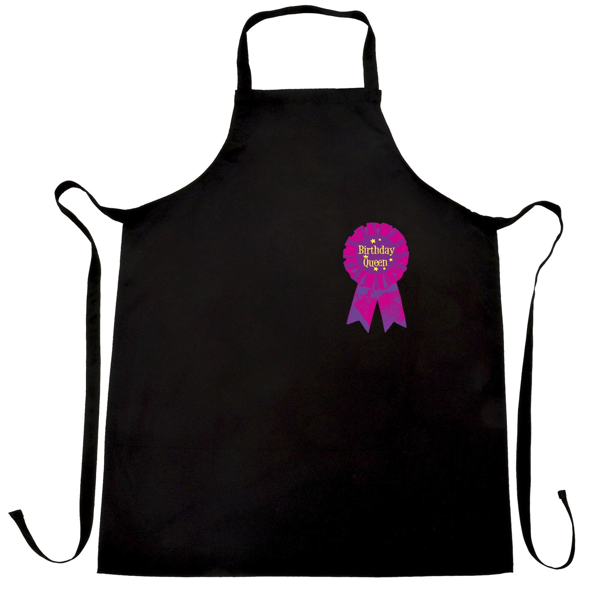 Novelty Party Chef's Apron Birthday Girl Pocket Print Badge