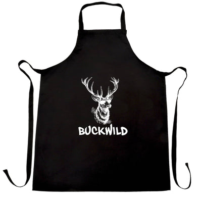 Novelty Christmas Chef's Apron Buckwild Cool Reindeer