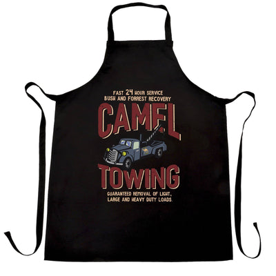Novelty Mechanic Chef's Apron Camel Towing Car Recovery