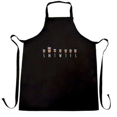 Weekly Overview Chef's Apron Size Of Coffee Needed Joke