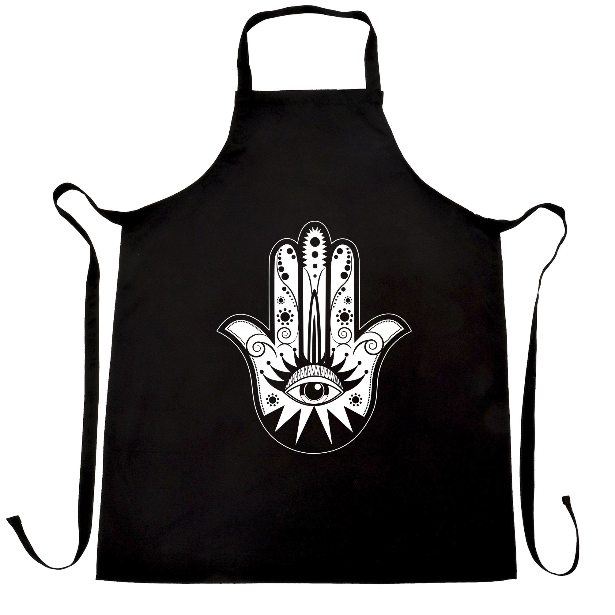 Traditional Art Chef's Apron Hamsa Hand Graphic