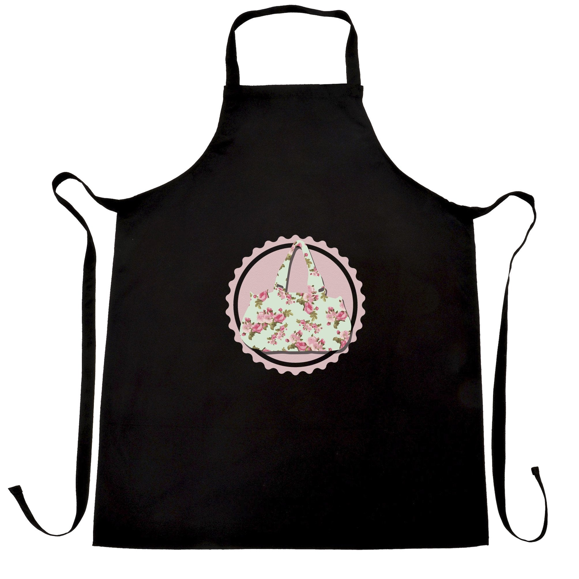 Vintage Logo Chef's Apron Floral Patterned Handbag Badge