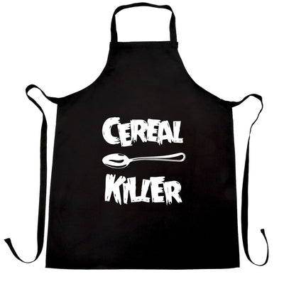Novelty Breakfast Chef's Apron Spoon Cereal Killer Joke