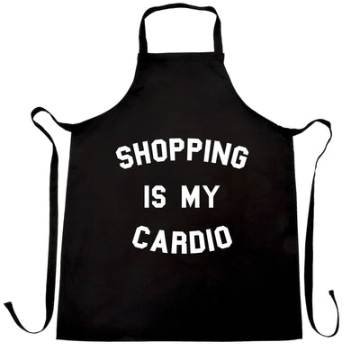 Novelty Chef's Apron Shopping Is My Cardio Slogan