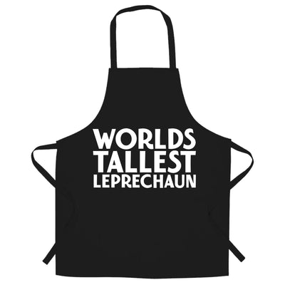 St Patricks Day Joke Chef's Apron Worlds Tallest Leprechaun