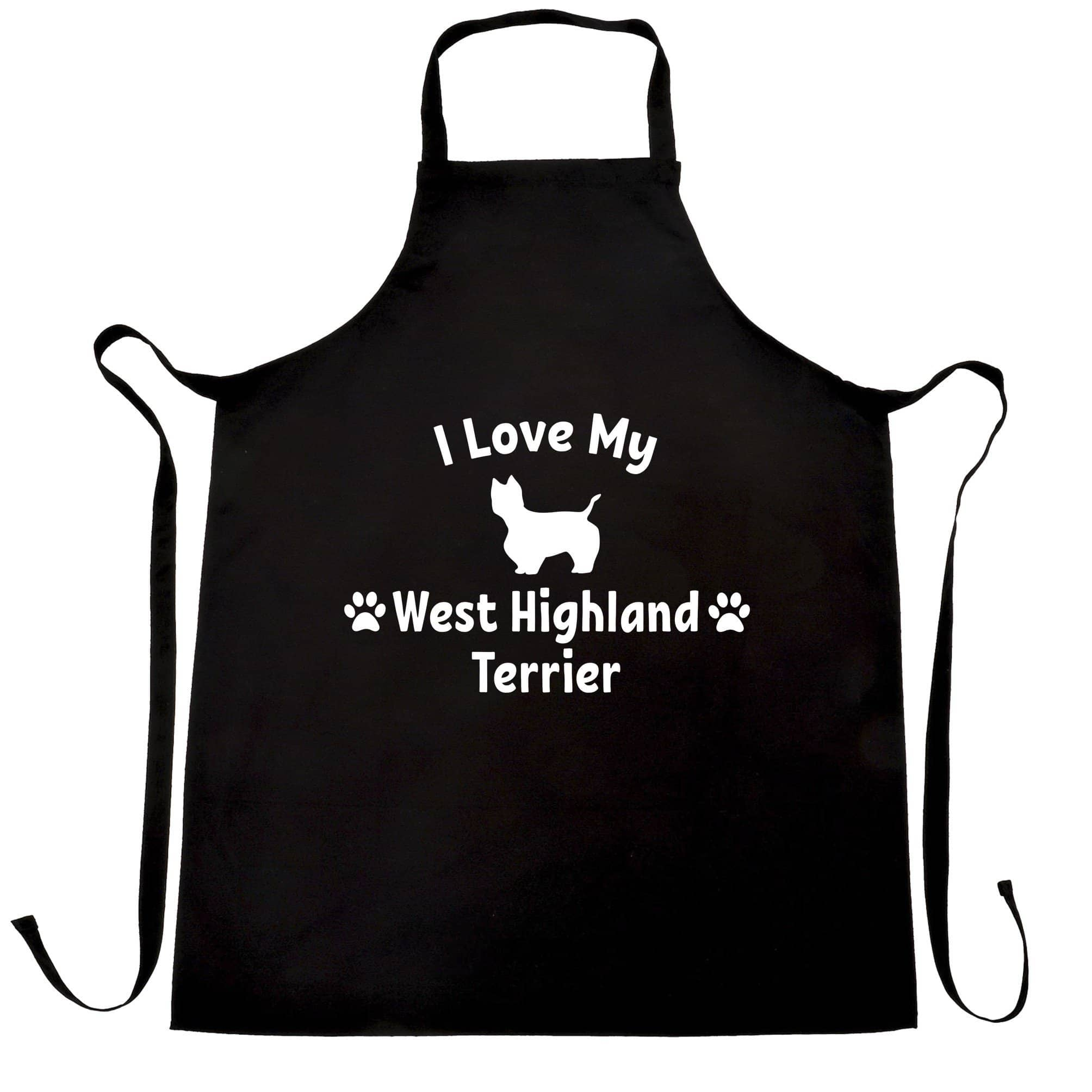 Dog Owner Chef's Apron I Love My West Highland Terrier