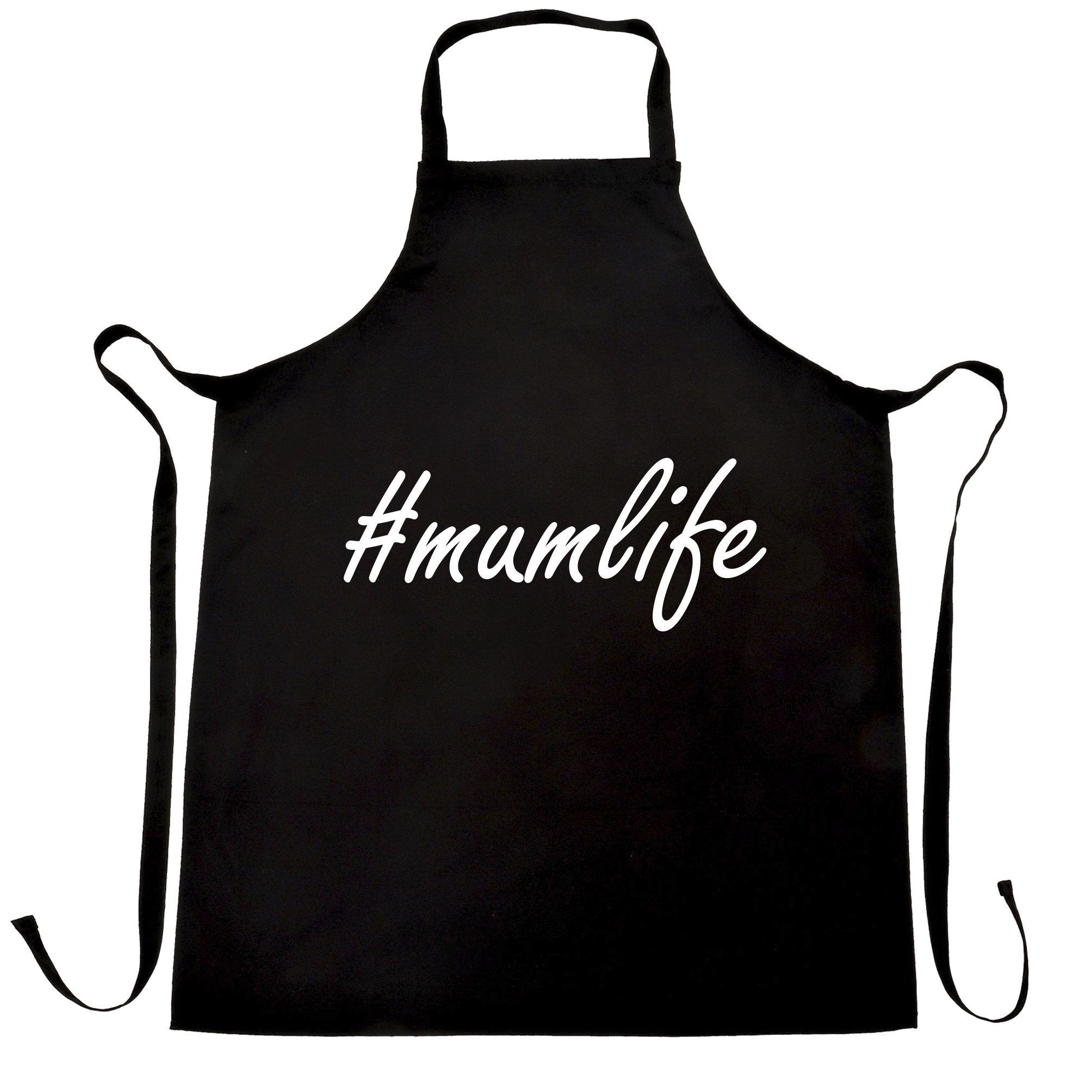 Mother's Day Chef's Apron Hashtag #mumlife Slogan