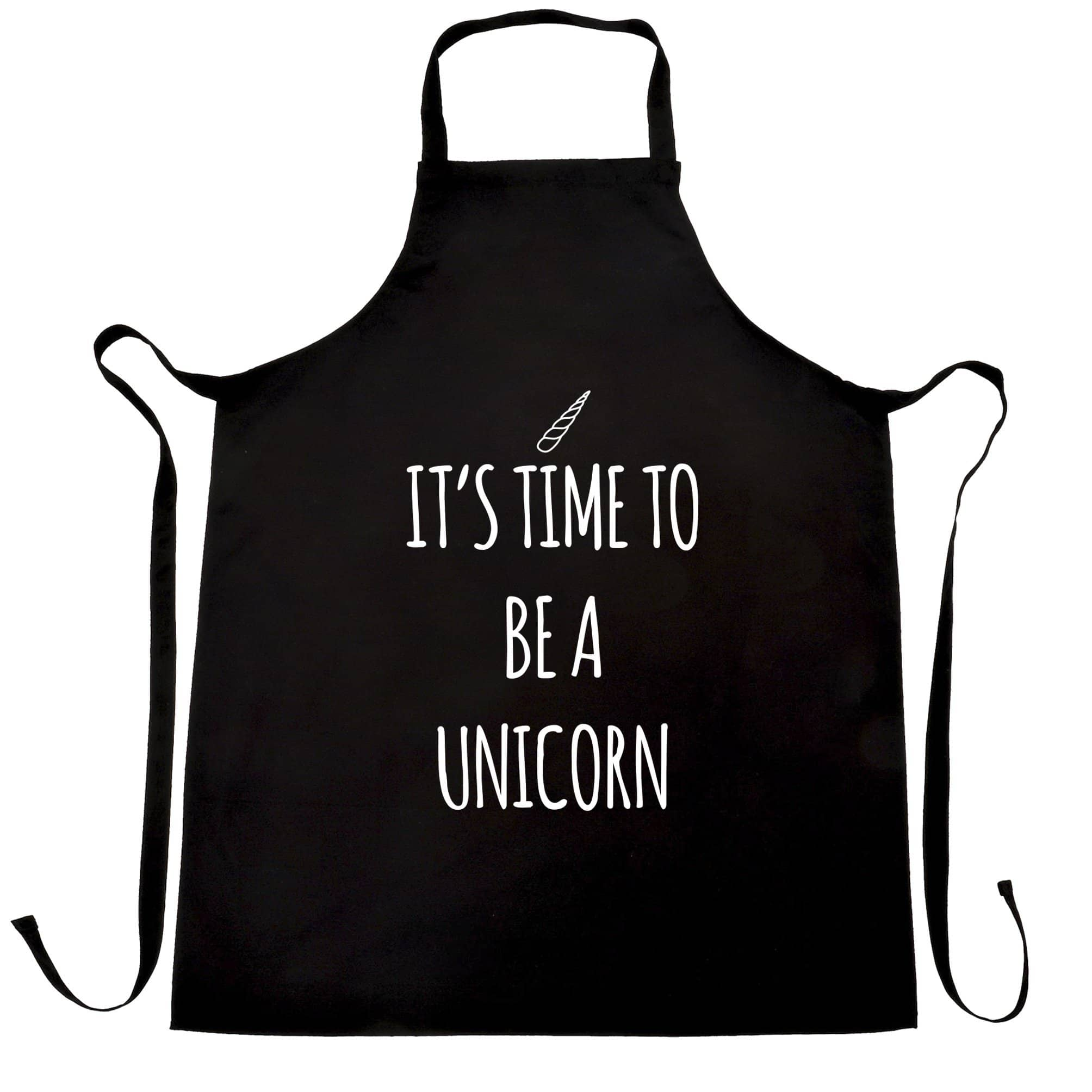 Novelty Myth Chef's Apron Its Time To Be A Unicorn Slogan