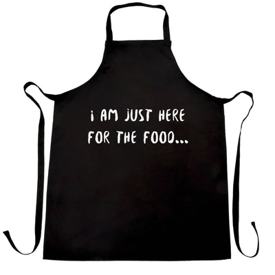Novelty Chef's Apron I'm Just Here For The Food Slogan