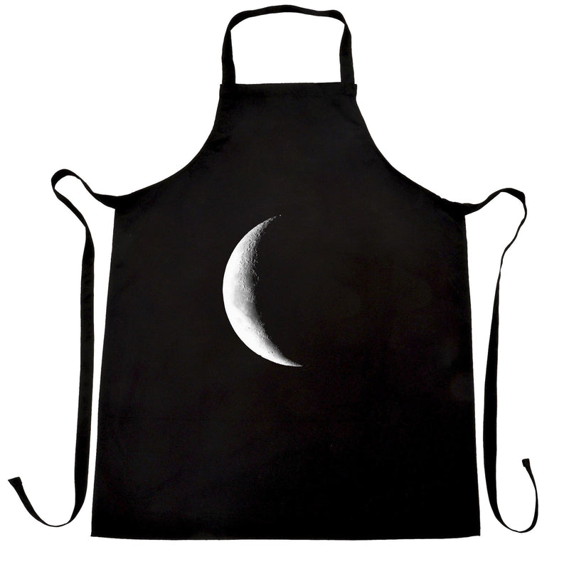 Space Chefs Apron Crescent Half Moon Astronomy