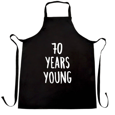 70th Birthday Joke Chef's Apron 70 Years Young Novelty Text