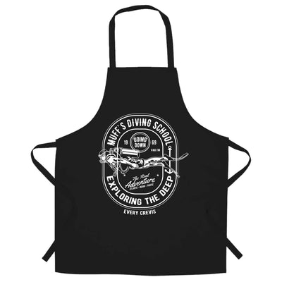 Diving School Chef's Apron The Real Adventure Logo