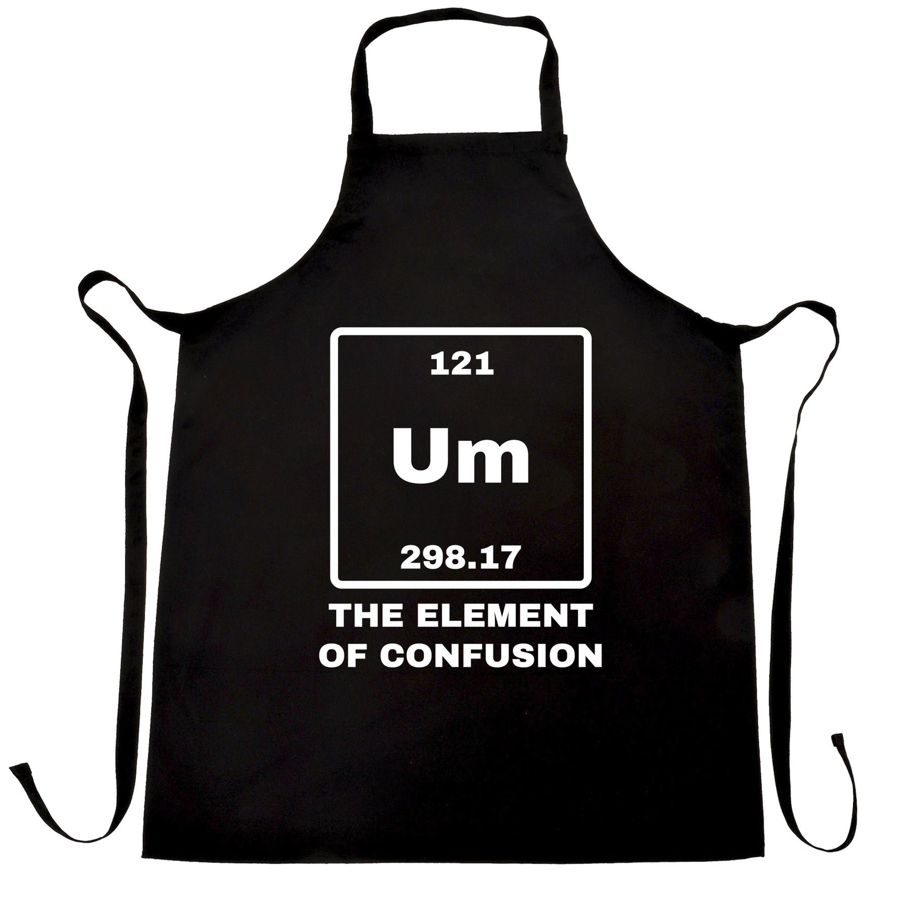 Science apron um the element of confusion periodic table funny science apron um the element of confusion periodic table funny science urtaz Images