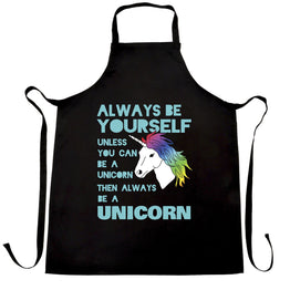Funny Unicorn Chefs Apron Always Be Yourself