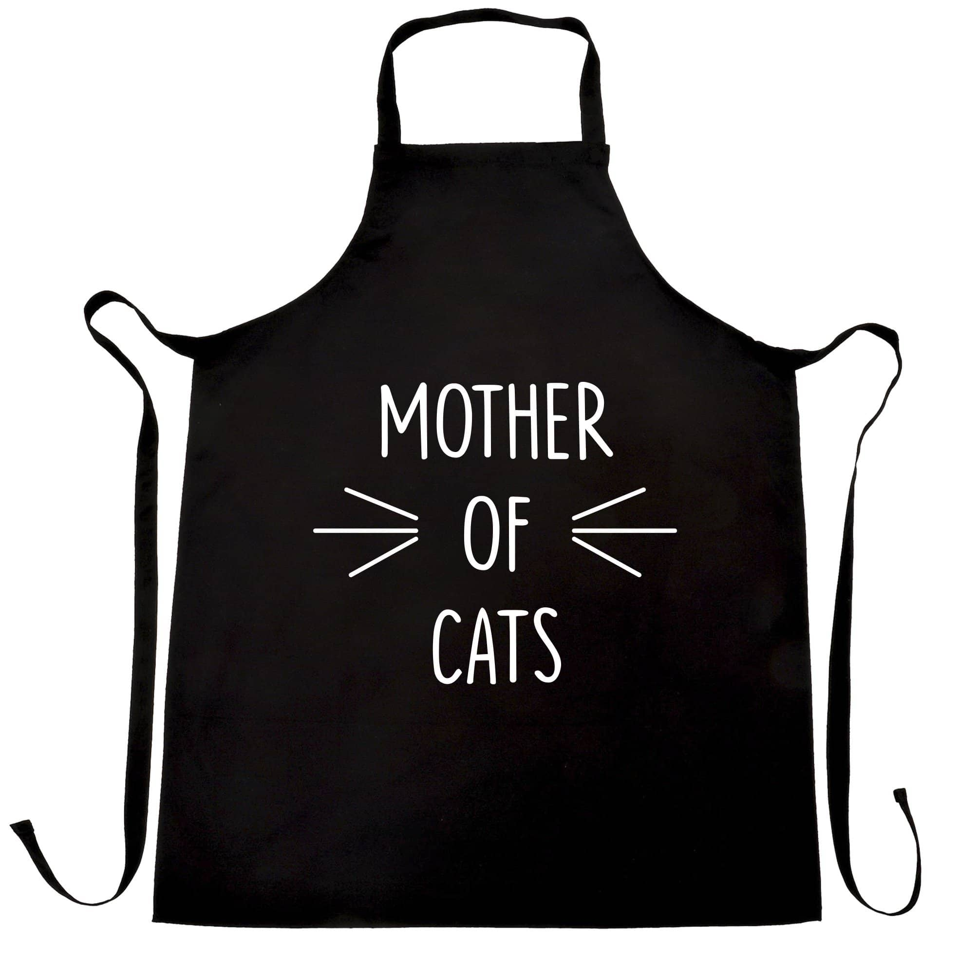 Novelty Pet Chef's Apron Mother Of Cats Slogan