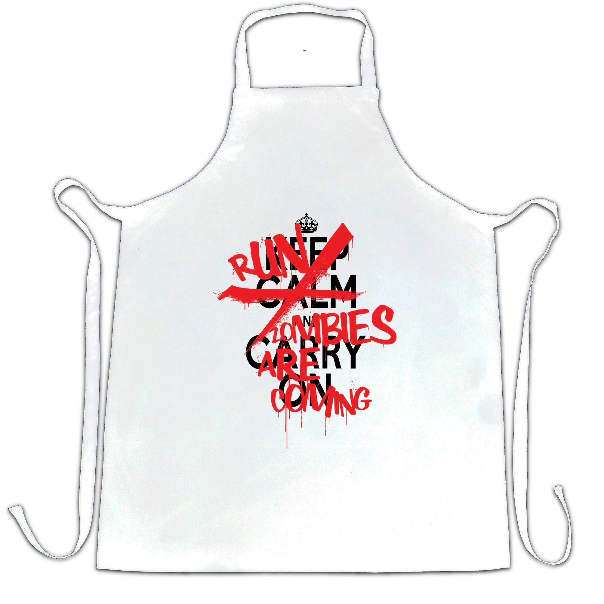 Keep Calm & Carry On | Run, Zombies Are Coming Chef's Apron