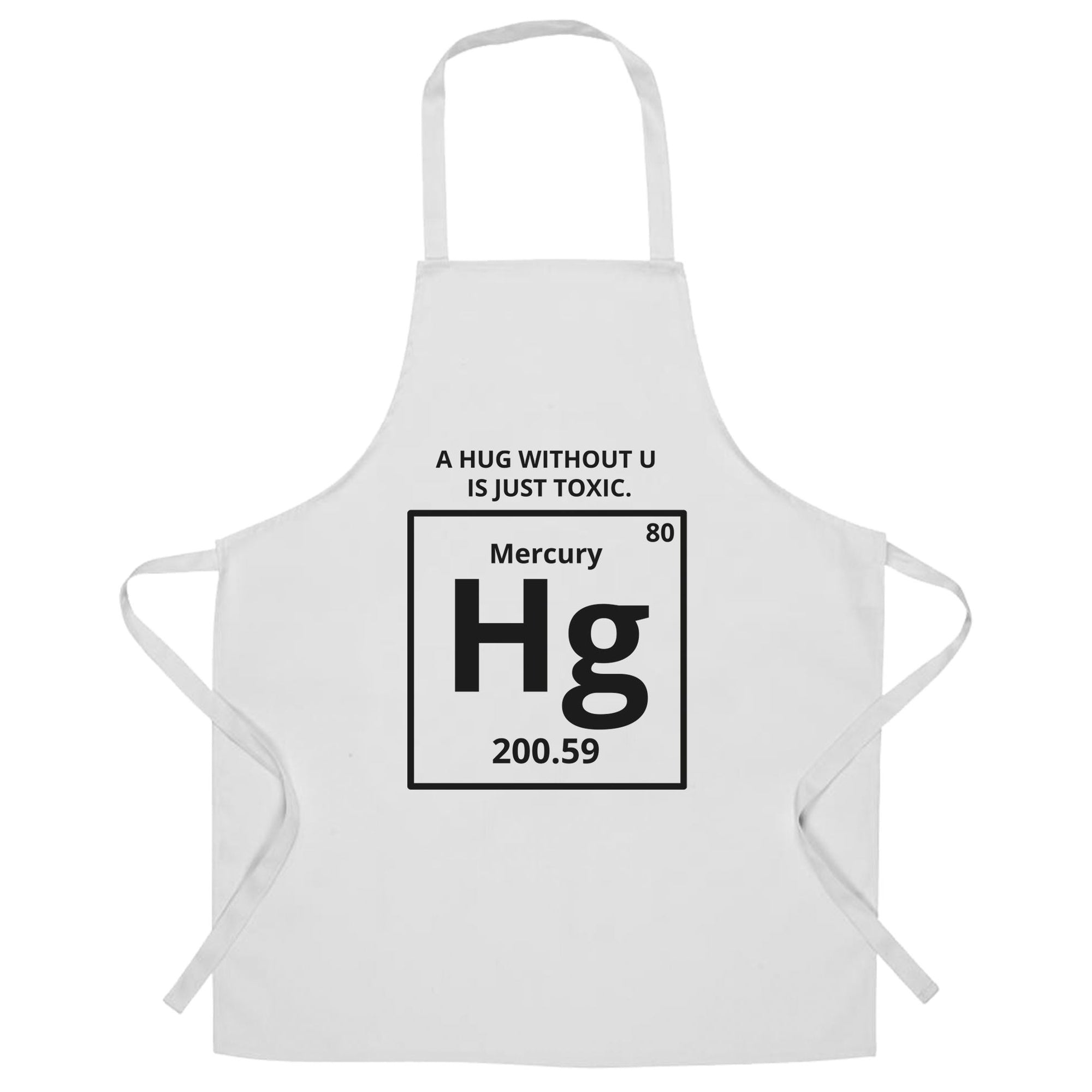 Funny Science Chef's Apron Mercury Hug Chemistry Joke
