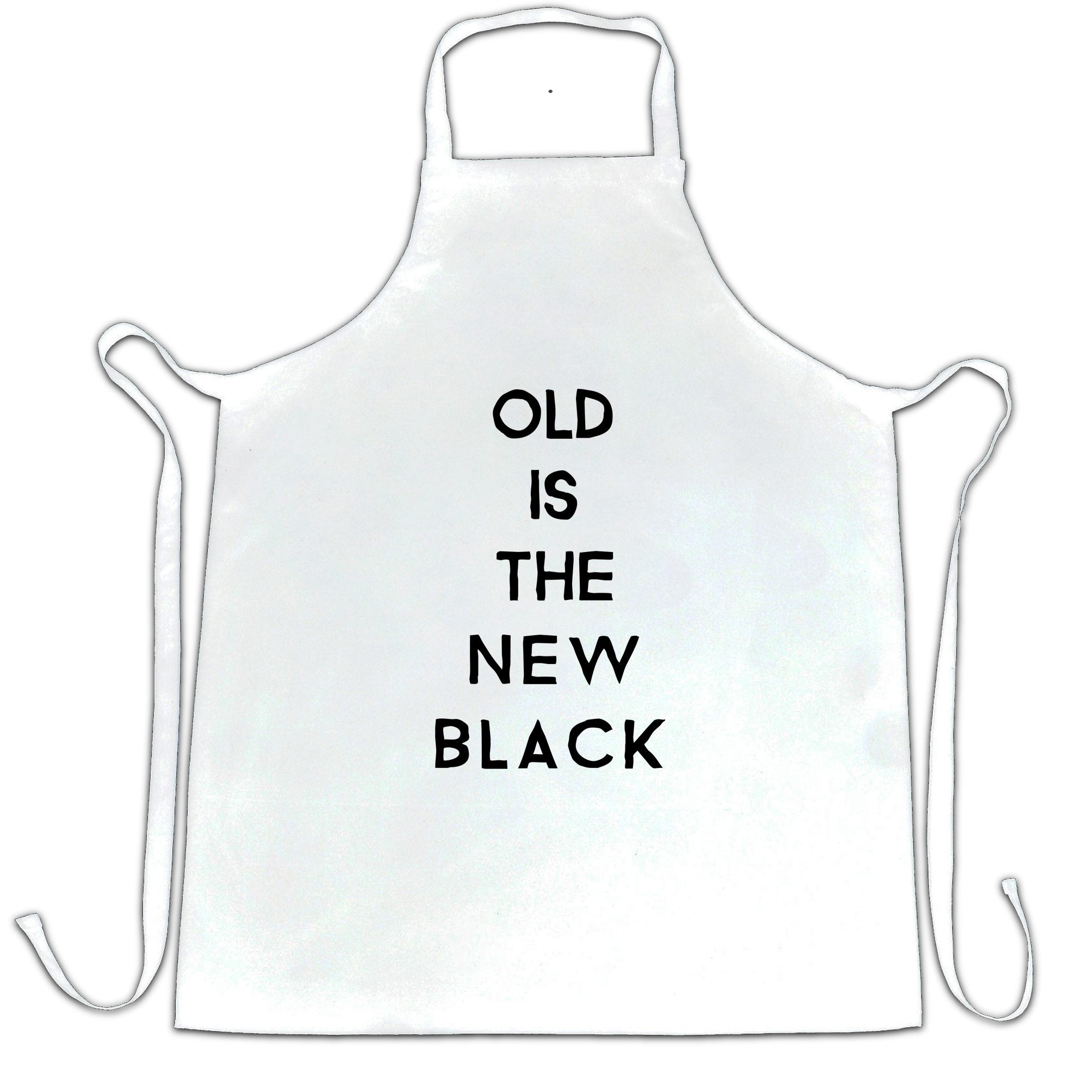Birthday Chef's Apron Old Is The New Black Slogan