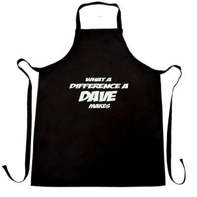 Novelty Chef's Apron What A Difference A Dave Makes